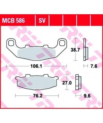 Stabdžių trinkelės MCB586