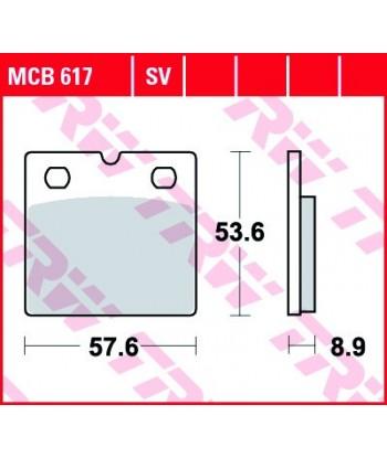 Stabdžių trinkelės MCB617