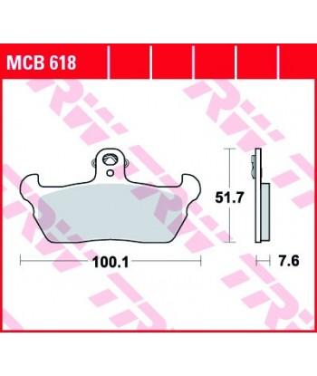 Stabdžių trinkelės MCB618