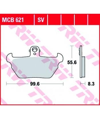 Stabdžių trinkelės MCB621
