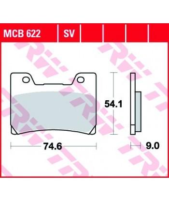 Stabdžių trinkelės MCB622