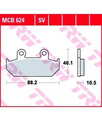 Stabdžių trinkelės MCB624