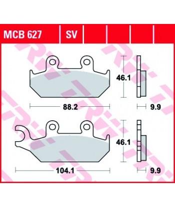 Stabdžių trinkelės MCB627