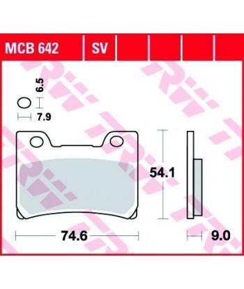 Stabdžių trinkelės MCB642