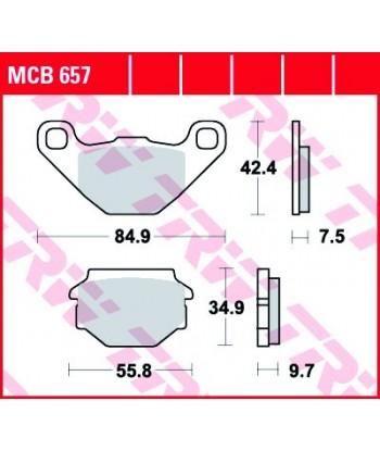 Stabdžių trinkelės MCB657