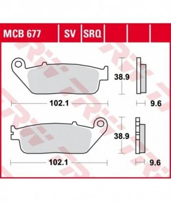 Stabdžių trinkelės MCB677