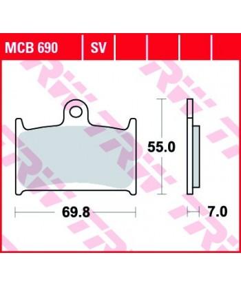 Stabdžių trinkelės MCB690