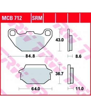 Stabdžių trinkelės MCB712