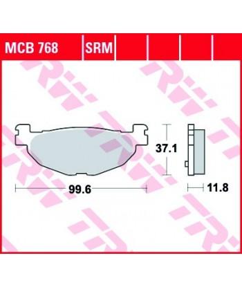 Stabdžių trinkelės MCB768
