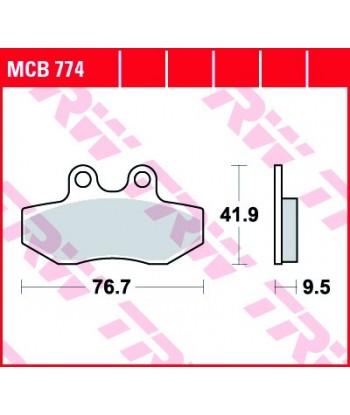 Stabdžių trinkelės MCB774