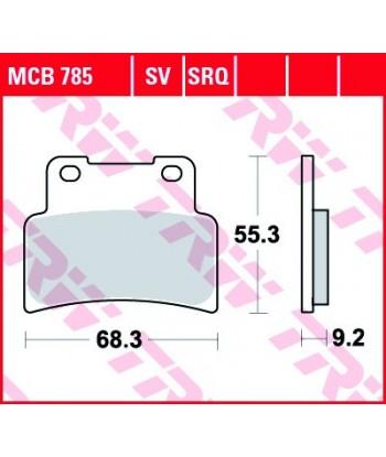 Stabdžių trinkelės MCB785