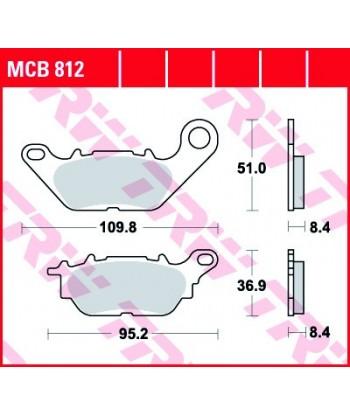 Stabdžių trinkelės MCB812