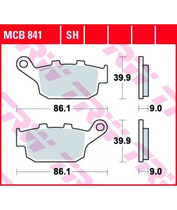 Stabdžių trinkelės MCB841