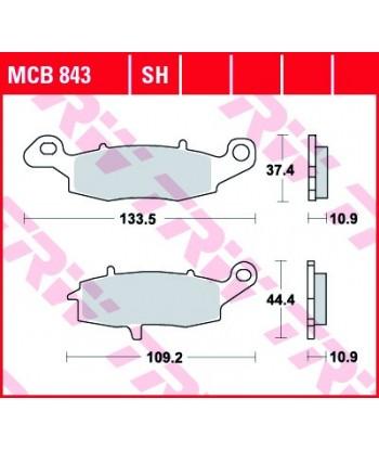 Stabdžių trinkelės MCB843