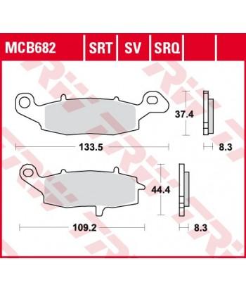 Stabdžių trinkelės MCB682