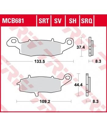 Stabdžių trinkelės MCB681