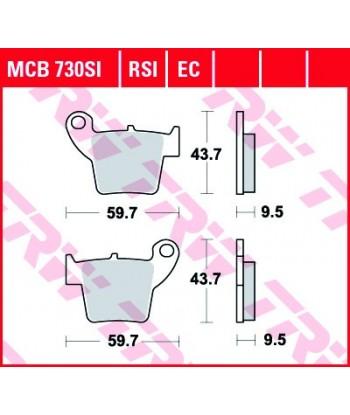 Stabdžių trinkelės MCB730RSI