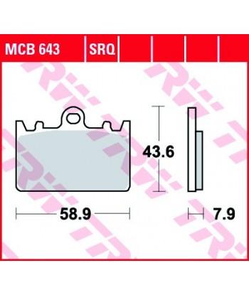 Stabdžių trinkelės MCB643