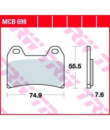 Stabdžių trinkelės MCB698
