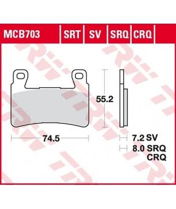 Stabdžių trinkelės MCB703