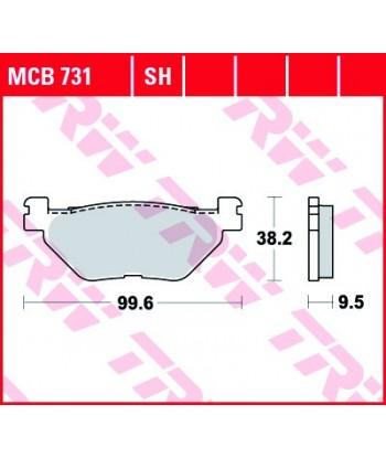 Stabdžių trinkelės MCB731