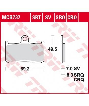 Stabdžių trinkelės MCB737