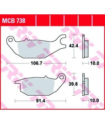 Stabdžių trinkelės MCB738