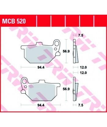 Stabdžių trinkelės MCB520