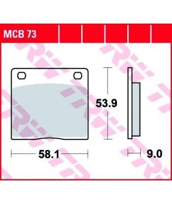 Stabdžių trinkelės MCB73