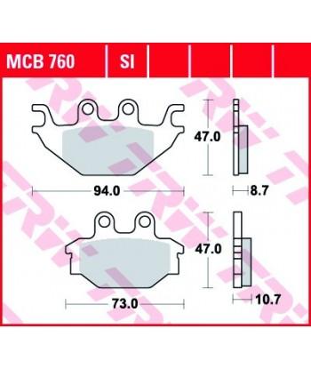 Stabdžių trinkelės MCB760SI