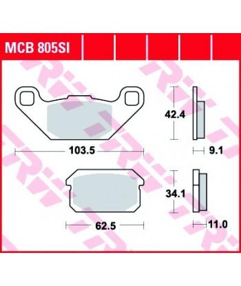 Stabdžių trinkelės MCB805SI