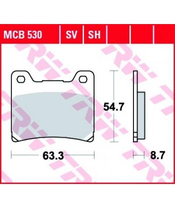 Stabdžių trinkelės MCB530SH