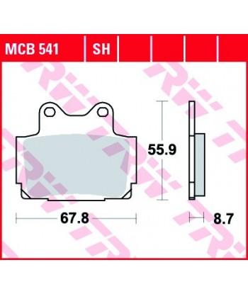 Stabdžių trinkelės MCB541SH