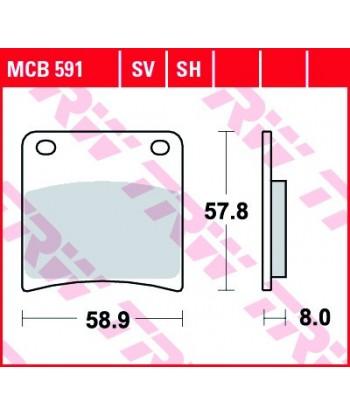 Stabdžių trinkelės MCB591SV