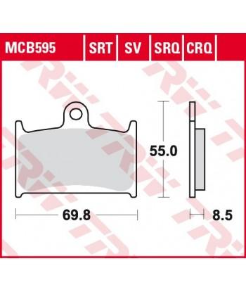 Stabdžių trinkelės MCB595SV