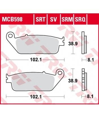 Stabdžių trinkelės MCB598SV