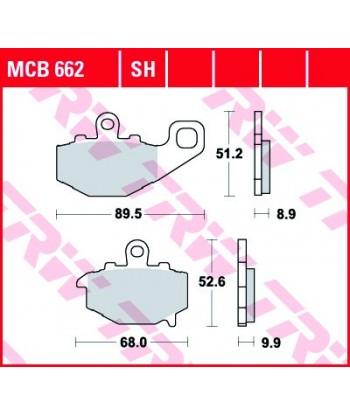 Stabdžių trinkelės MCB662SH