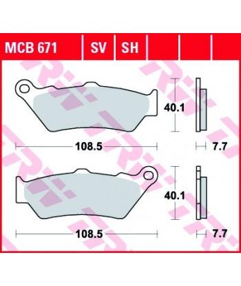 Stabdžių trinkelės MCB671SV