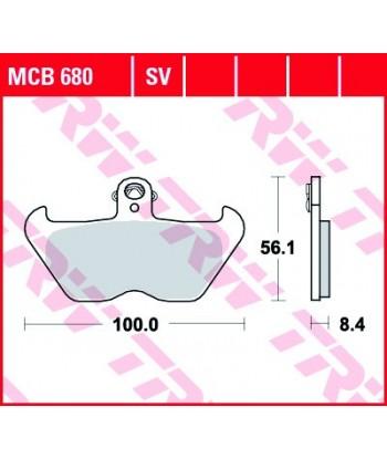 Stabdžių trinkelės MCB680SV