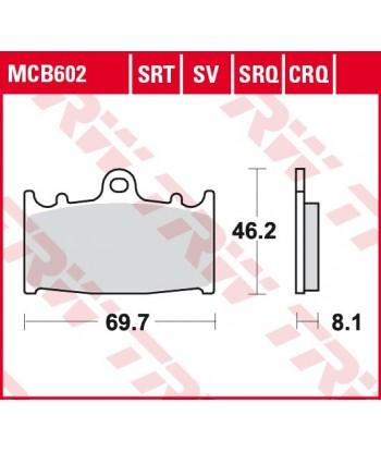 Stabdžių trinkelės MCB602SRQ