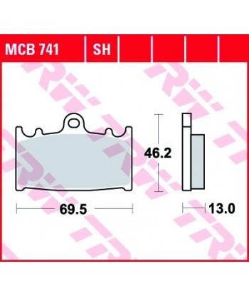 Stabdžių trinkelės MCB741SH