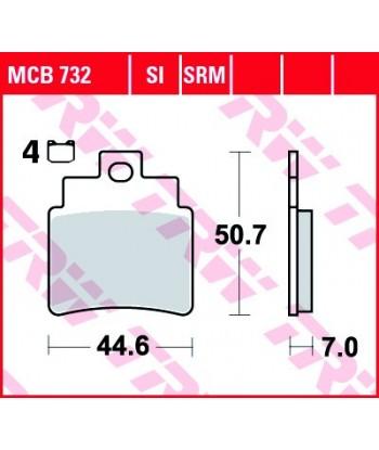 Stabdžių trinkelės MCB732