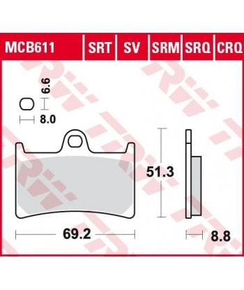 Stabdžių trinkelės MCB611SRT