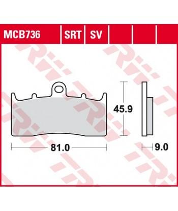 Stabdžių trinkelės MCB736SRT