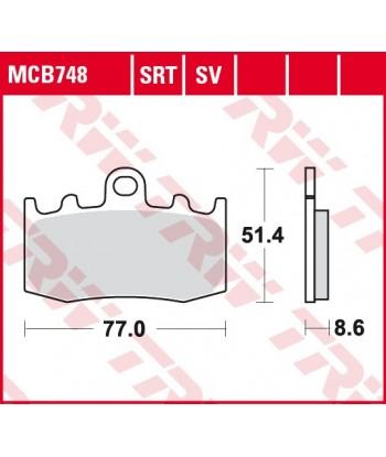 Stabdžių trinkelės MCB748SRT