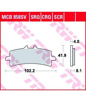 Stabdžių trinkelės MCB858SV