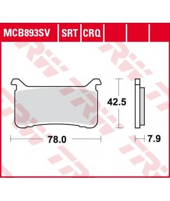 Stabdžių trinkelės MCB893SRT