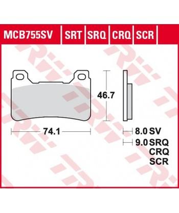 Stabdžių trinkelės MCB755CRQ