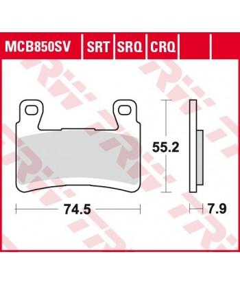Stabdžių trinkelės MCB850CRQ