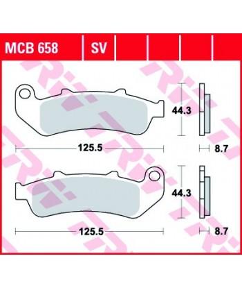 Stabdžių trinkelės MCB658SV